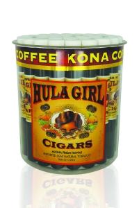 Tub of 36 Hula Girl Kona Coffee Flavored Cigars