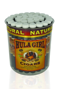 Tub of 36 Hula Girl 100% Natural Cigars