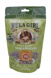 Hula Girl Hawaiian Potcakes Chia and Hemp Pancake and Waffle Mix