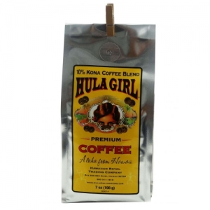 Hula Girl 10% Kona Coffee Blend 7oz