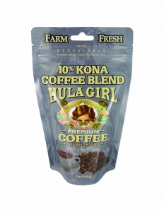 Hula Girl 10% Kona Coffee Blend 5oz