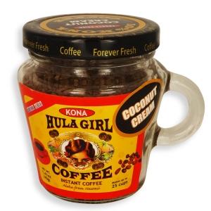 Hula Girl 10% Kona Blend Freeze Dried Instant Coffee
