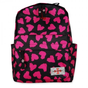 Life Spirit Backpack Pink Heart (Black)