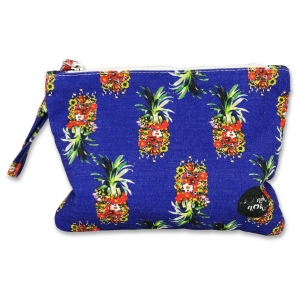 Small pouch  Blue Pineapple