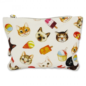 Small pouch Cats and Ice Creams