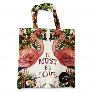 Eco Tote Bag It Must Be Love (Flamingo)