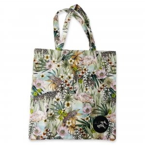 Eco Tote Bag Jaguar, Flamingo and Cyclura