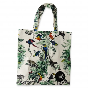 Eco Tote Bag Parrot, Monkey, Lemur, Toucan, Butterfly, Tiger and Sloth
