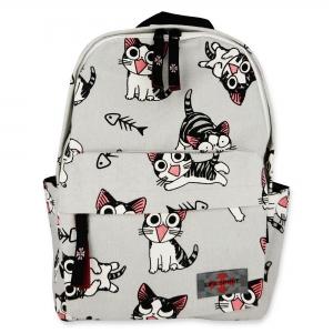 Life Spirit Backpack Cat and Fish Bone