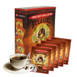 Hula Girl 100% Kona Drip Coffee Box of 5