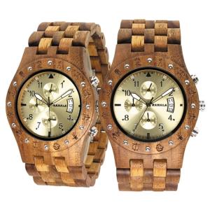 Handmade Wooden Watch Made with Asian Koa Wood and Asian Mango Wood Watch # 11A-GF