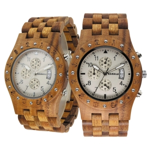 Handmade Wooden Watch Made with Asian Koa Wood and Asian Mango Wood Watch # 11A-WF