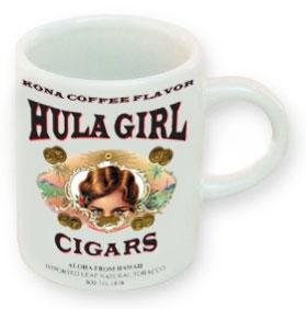 Hula Girl Coffee Mini Mug White 3oz