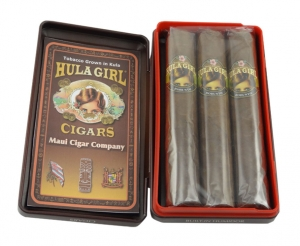 Hula Girl Maui Grown Natural Robusto Tin of 3 Cigars