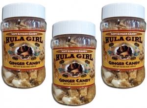 Hula Girl White Soft Ginger Candy
