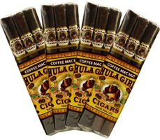 Hula Girl Coffee Mac Nut Small Cigars 4-Pack