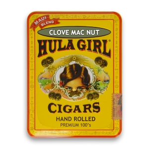 Hula Girl Clove Mac Nut Cigars in Tin