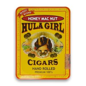 Hula Girl Honey Mac Nut Cigars in Tin