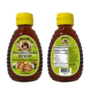 Hula Girl Coconut Creme Flavored Pancake and Waffle Syrup
