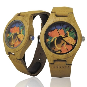 Handmade Kahala Wooden Watch Made With Natural Acacia Koa Wood with Hawaiian Ukelele - HGW205