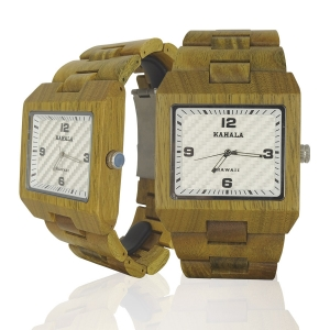 Handmade Wooden Watch Made with Green Sandalwood - Kahala Brand #48