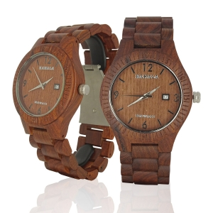 Handmade Wooden Watch Made with Red Sandalwood - Kahala Brand #52