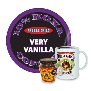 Hula Girl 10% Kona Blend Freeze Dried Instant Coffee