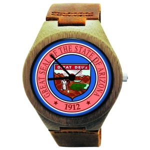 Kahala Wooden Watch Made with Natural Bamboo with State of Arizona Seal