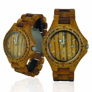 Handmade Wooden Watch Made with Asian Koa Wood - Kahala # 1A