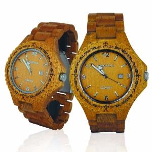 Handmade Wooden Watch Made with Asian Mango Wood - Kahala # 1M