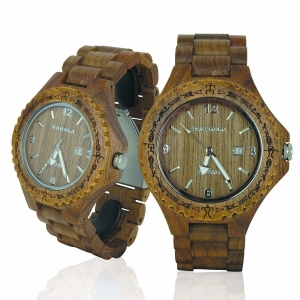 Handmade Wooden Watch Made with Wallnut Wood - Kahala Brand # 1W