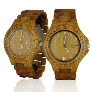 Handmade Wooden Watch Made with Acacia Koa Wood - Kahala9AC