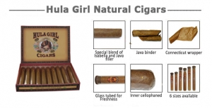 Hula Girl Double Corona Natural Cigars
