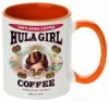 Hula Girl Coffee 11oz Mug Two Tone Orange Inner and Handle