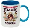Hula Girl Coffee 11oz Mug Two Tone Cambridge Blue Inner and Handle