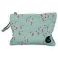 Small pouch Flamingo Green