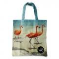 Eco Tote Bag Three Flamingos