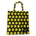 Eco Tote Bag Duck Pattern (Black)