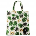 Eco Tote Bag Cats and Leaves