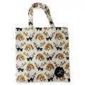Eco Tote Bag Fox, Flower and Mushroom