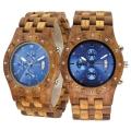 Handmade Wooden Watch Made with Asian Koa Wood and Asian Mango Wood Watch # 11A-BLF