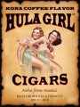 Hula Girl Cigar Poster Two Hula Dancing Girls with Mailing Tube