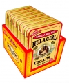 Hula Girl Vanilla Mac Nut Small Cigar Box of 7 Tins with 8 Mini Cigars Each