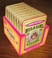 Box of 7 tin Hula Girl Cherry Mac Nut Small Cigars