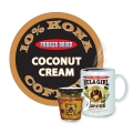 "Hula Girl 10% Kona Blend Freeze Dried Instant Coffee ""Coconut Cream"" Jar with Handle (40g)"