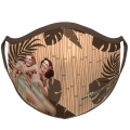 Hula Girl Face Mask with Dancing Hula Girl Design