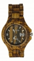 Handmade Wooden Watch Made with Natural Zebra Wood - Kahala Brand #1
