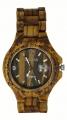 Handmade Wooden Watch Made with Natural Zebra Wood - Kahala Brand #1