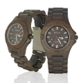 Handmade Wood Watch Made with Black Sandalwood - Kahala54