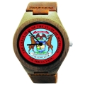 Handmade Wooden Watch Made with Natural Bamboo with State of Michigan Seal